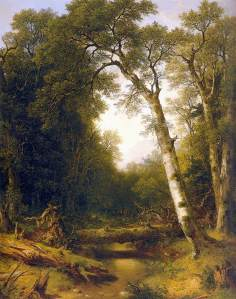 A Stream in the Wood  by Asher Brown Durand 1865, from the Web Gallery of Art