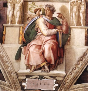 """The Prophet Isaiah"" in the Sistine Chapel by Michelangelo Buonarrati, 1509"