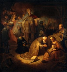 """Adoration of the Magi"" by Rembrandt"