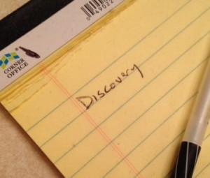 Discovery yellow pad
